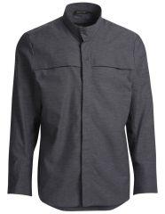 Kokkeskjorte clay grey lang ærme trykknapper