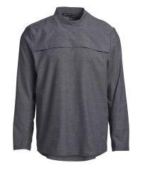 Skjorte herre popover clay grey lang ærme trykknapper