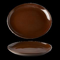 Lifestyle oval tallerken kakao farve
