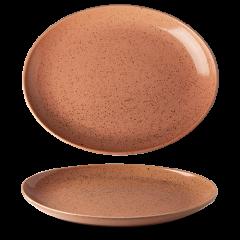 Lifestyle oval tallerken terracotta 32 cm