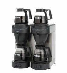 Animo dobbelt kaffemaskine med automatisk vand