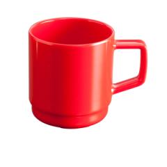 Rødt melaminkrus