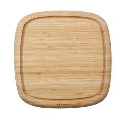 kvadratisk skærebræt i bambus