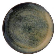 22 cm tallerken i brun stentøj