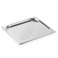 Gastrobakke stål perfo 2/3-2 cm (små huller)