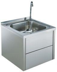 Vask RS 450x450x400 mm knæ betjening